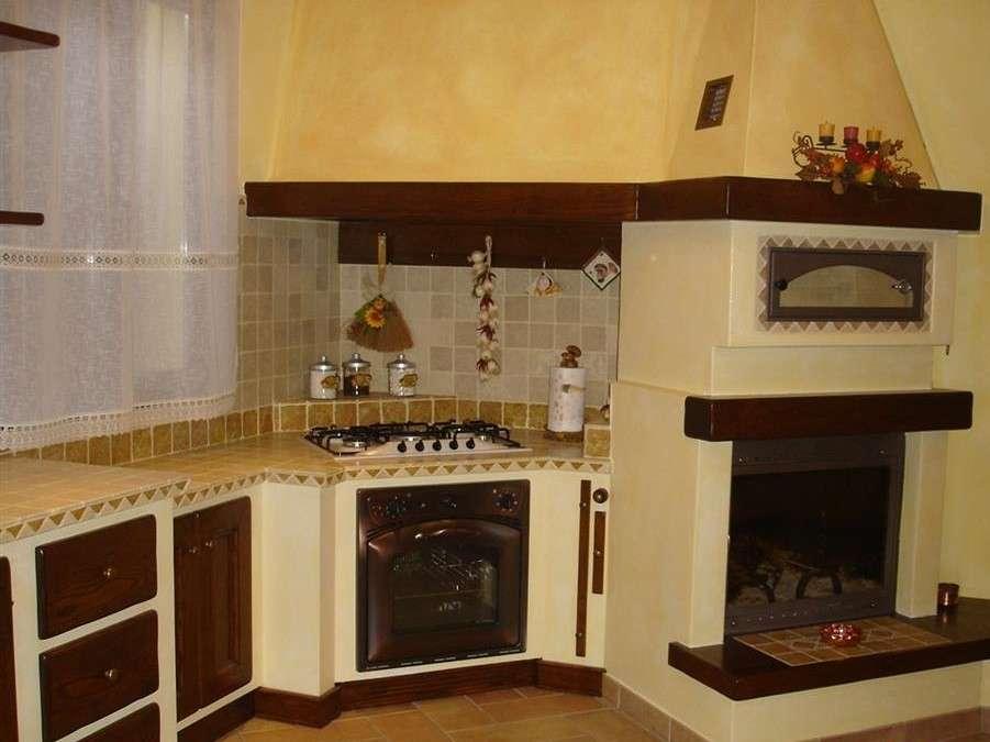 tipologie di cucine in muratura
